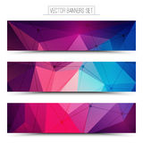 3d vector technology web banners. Abstract 3d vector digital technology web banners set. Internet technology vector background. Business abstract vector. Design Stock Images