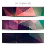 3d vector technology web banners. Abstract 3d vector digital technology web banners set. Internet technology vector background. Business abstract vector. Design Royalty Free Stock Image