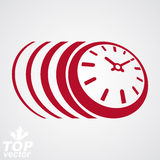 3d vector timer, eps8 clear vector illustration. Time runs fast Stock Image