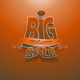 3d vector words big autumn sale Royalty Free Stock Image