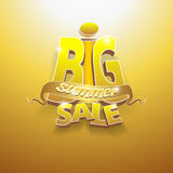3d vector words big summer sale Stock Photos