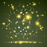 3D veelhoekig geometrisch netwerkvoorwerp, vector abstract ontwerp eleme Royalty-vrije Stock Fotografie