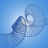 3d veelhoekige spiraal Royalty-vrije Stock Foto