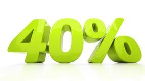 3D veertig percenten Royalty-vrije Stock Foto