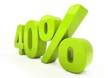 3D veertig percenten Royalty-vrije Stock Fotografie