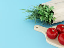 3D Vegetables and fruits. Healthy concept. Royalty Free Stock Photography