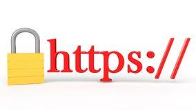3d veilig Web communicatie concept Royalty-vrije Stock Afbeeldingen