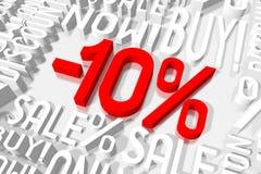 3D venda -10% Fotos de Stock