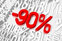 3D venta -90% Imágenes de archivo libres de regalías