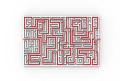 3d veranschaulichte das Labyrinth, das auf weißem Hintergrund lokalisiert wurde illustratin 3D Vektor Abbildung