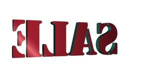 3D Verkoop van tekst roterende brieven Inschrijving voor motieaffiches, banners Beschikbaar in de videolengte van HD vector illustratie