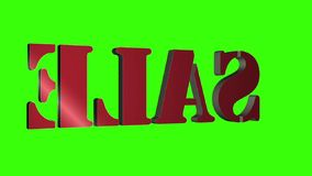 3D Verkoop van tekst roterende brieven Inschrijving voor motieaffiches, banners Beschikbaar in de videolengte van HD royalty-vrije illustratie