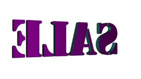 3D Verkoop van tekst roterende brieven Inschrijving voor motieaffiches, banners Beschikbaar in de videolengte van HD stock illustratie