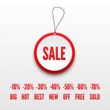 3D verkoopmarkering stock illustratie