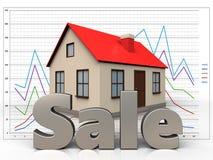 3d verkoopteken over diagram Royalty-vrije Stock Fotografie
