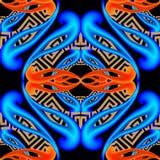 3d verlicht het moderne Grieks vector naadloos patroon Sier kleurrijke decoratieve achtergrond Herhaal geometrische achtergrond w vector illustratie