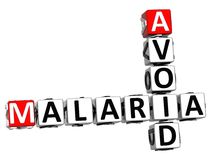 3D vermeiden Malaria-Kreuzworträtseltext Stockfotos