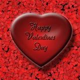 3d vermelho Valentine Heart Fotografia de Stock Royalty Free