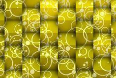 3d versus 2d in yellow. Cool background 3d with visual effect of the shadows.Image for a sustainable and human architecture Stock Photo