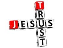 3D Vertrauen Jesus Crossword Lizenzfreie Stockfotos