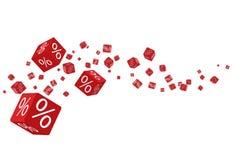 3D verwischte Vektor Rabatt-Verkaufskastenzusammensetzung für Geschäfts-Design-Grafiken Stockfoto