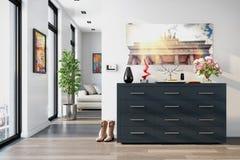 3d - vestuário em um apartamento moderno Imagem de Stock Royalty Free