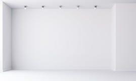 3d vident l'intérieur avec les murs blancs illustration libre de droits
