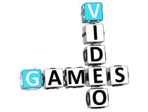 3D Video Games Crossword Royalty Free Stock Photography
