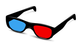 3D vidro, Eyewear, 3D visão, acessórios do olho Foto de Stock