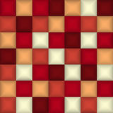 3d vierkant mozaïek Abstracte kleurrijke achtergrond, ontwerpmalplaatje royalty-vrije illustratie