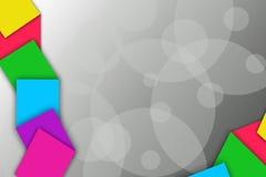 3d vierkante overlappingslinkerkant, abstracte achtergrond Stock Foto's