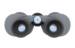 3d view of binoculars  on a white background Royalty Free Stock Photography