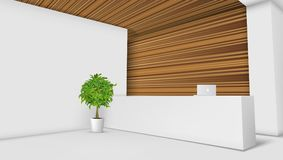 3D View Of A Office Reception Desk. Ready For Branding stock illustration