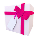 3d view of a pale pink present and bright bow Stock Photo