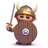 3d Viking defense Royalty Free Stock Images