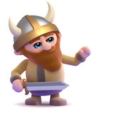 3d Viking gestures to the right Royalty Free Stock Image
