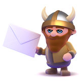 3d Viking gets mail Stock Photo