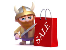 3d Viking has been to the sales Stock Photo