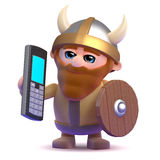 3d Viking mobile phone Royalty Free Stock Image