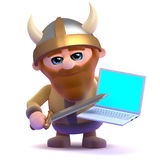 3d Viking online Stock Photo