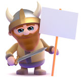 3d Viking placard Royalty Free Stock Images