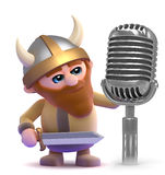 3d Viking radio announcer Royalty Free Stock Photography