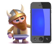 3d Viking smartphone Royalty Free Stock Photos