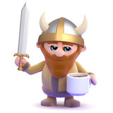 3d Viking tea break Royalty Free Stock Images