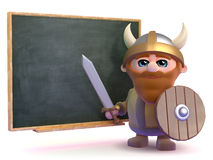3d Viking teacher Stock Image