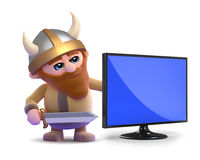 3d Viking television Royalty Free Stock Image