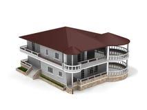 3D villa Stock Photography
