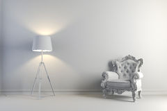 3d vintage arm chair interior render Royalty Free Stock Photo