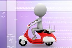 3d vintage scooter   modem router illustration Stock Image