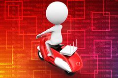 3d vintage scooter   modem router illustration Royalty Free Stock Images